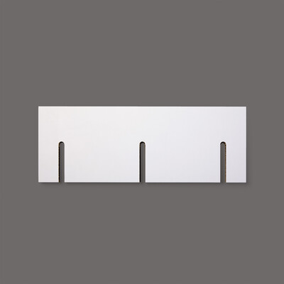 1 x 2- White Shelf Pappregal